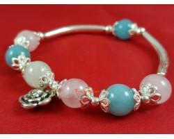 Morganite Crystal Bracelet