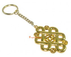 Mystic Knot with Coin Keychain (L)