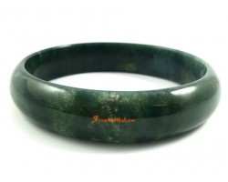 Natural Moss Agate Bangle Bracelet