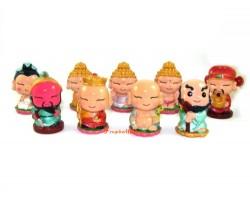 Nine Cute Mini Gods and Deities Figurines