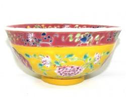 Nyonya Peranakan Colorful Porcelain Bowl