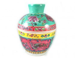 Nyonya Porcelain Jar with Phoenix and Peonies - Kam Cheng