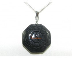 Obsidian Bagua Pendant