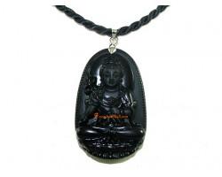 Obsidian Guardian Deity Horoscope Protector Pendant for Horse