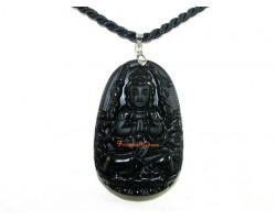 Obsidian Guardian Deity Horoscope Protector Pendant for Rat
