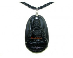 Obsidian Guardian Deity Horoscope Protector Pendant for Rooster