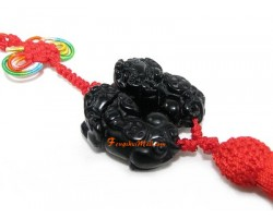 Pair of Obsidian Piyao Tassel