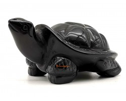 Mini Obsidian Crystal Tortoise