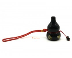 Obsidian Wulou with Om Mani Padme Hum Hanging (L)