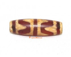 Antiquated Tibetan Tiger Tooth Dzi Bead