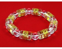 Cylindrical Om Mani Padme Hum Bracelet (clear)