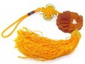 Orange Liuli Crystal Money Frog Tassel