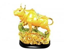 Good Luck Ox on Treasure and Ru Yi