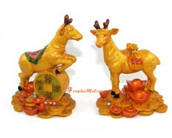 Pair of Good Fortune Deers