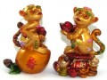 Pair of Auspicious Monkeys on Peach and Wealth