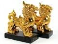 Pair of Feng Shui Golden Pi Yao