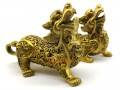 Pair of Wealth-Inviting Brass Pi Yao