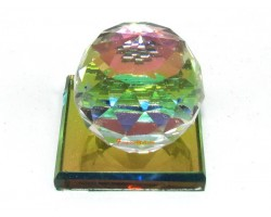 Rainbow Color Faceted Crystal Ball