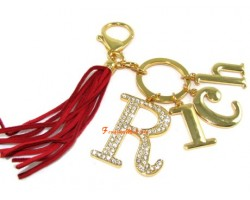 """Rich"" Keychain with Tassel"
