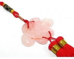 Rose Quartz Mystic Knot Love Charm