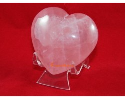 Rose Quartz Puff Heart for Love Luck