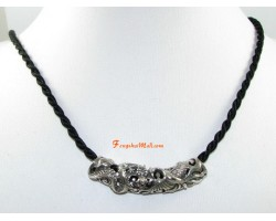925 Silver Dragon and Phoenix Pendant