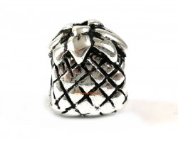 Silver Plated Good Fortune Pineapple Pendant Beads Charm
