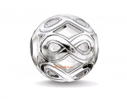 Silver Plated Retro Infinity Knot #8 Charm Bead