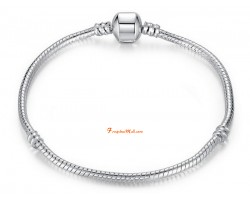 Silver Plated Snake Chain Bracelet for Charm Beads