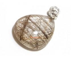 Silver Rutilated Quartz Pendant