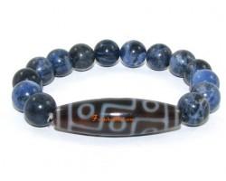 Tibetan Dzi Bead of your Choice with Sodalite Bracelet