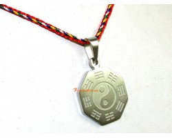 Stainless Steel Feng Shui Bagua Pendant