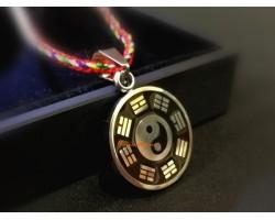 Stainless Steel Feng Shui Yin Yang Bagua Pendant