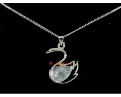 Swan Crystal Pendant with Necklace