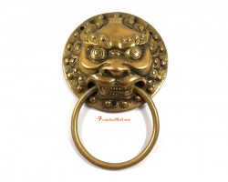 Temple Lion Brass Door Knocker