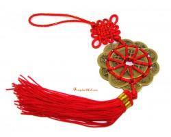 Ten Emperor's Coin Amulet Tassel