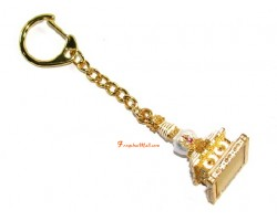 The Stupa of 8 Doors to Abundance Keychain