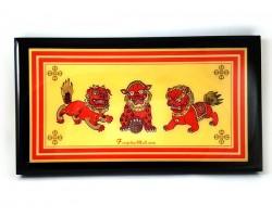 Three Lions Plaque