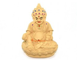 Tibetan Wealth God Yellow Dzambhala (wood color)