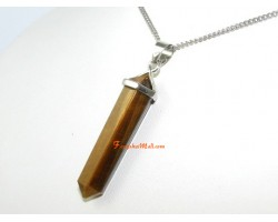 Tiger Eye Double Point Crystal Pendant (L)