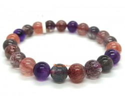 Top Grade Super Seven Gemstone Bracelet (8.6mm)