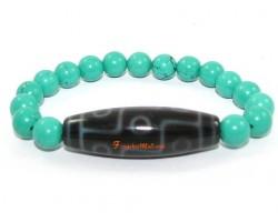Tibetan Dzi Bead of your Choice with Turquoise Bracelet