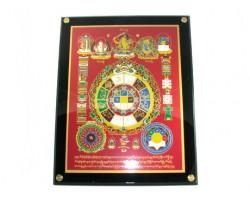 Universal Tortoise with Manjushri and Kalachakra Plaque