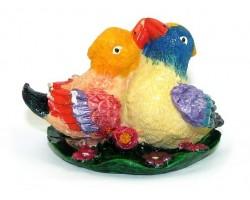 Pair of Vibrant Mandarin Ducks