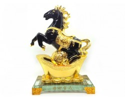 Black Victory Horse for Ultimate Success