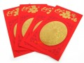 Red Packets Ang Pow with Golden Wealth God (4pcs)