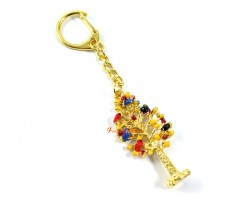 Wealth Trees Feng Shui Keychain