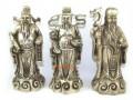 White Brass Feng Shui Fuk Luk Sau