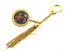 White Dzambala Mirror Keychain