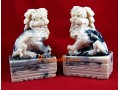 Pair of Protective Feng Shui Foo Dogs (white)